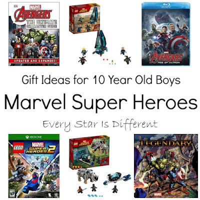 Marvel Super Hero gift ideas for 10 year old boys.