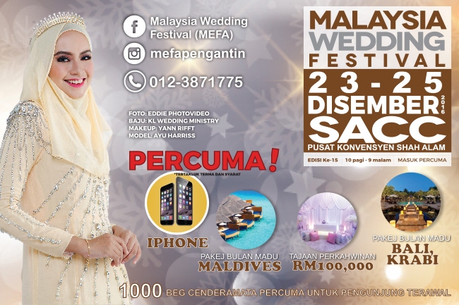 5 Sebab Kenapa Perlu Hadir Ke Malaysia Wedding Festival (MEFA)