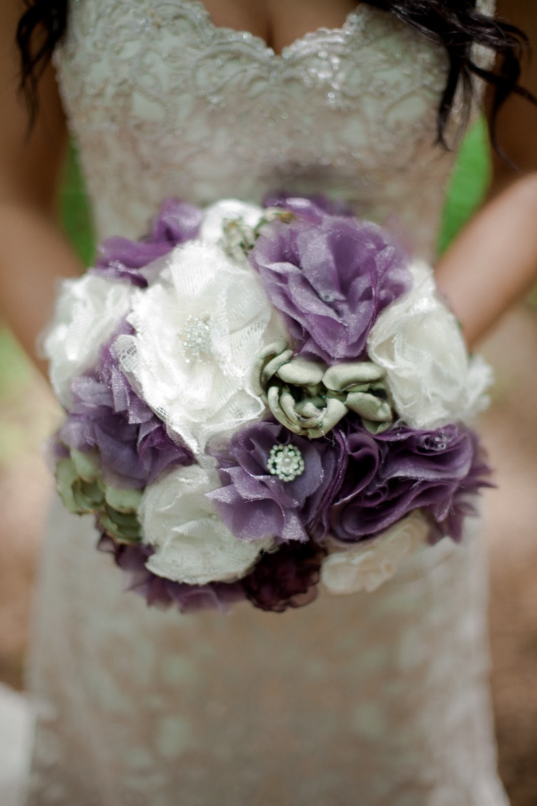 The Diy Rustic Bride Diy Fabric Flower Bouquet