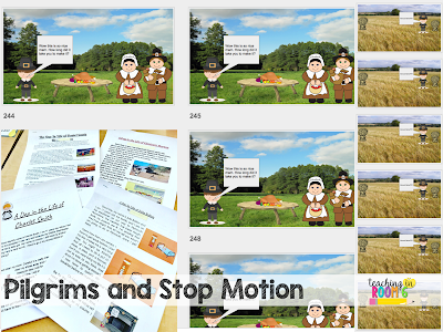 Creating a stop motion on Google Slides with a narrative