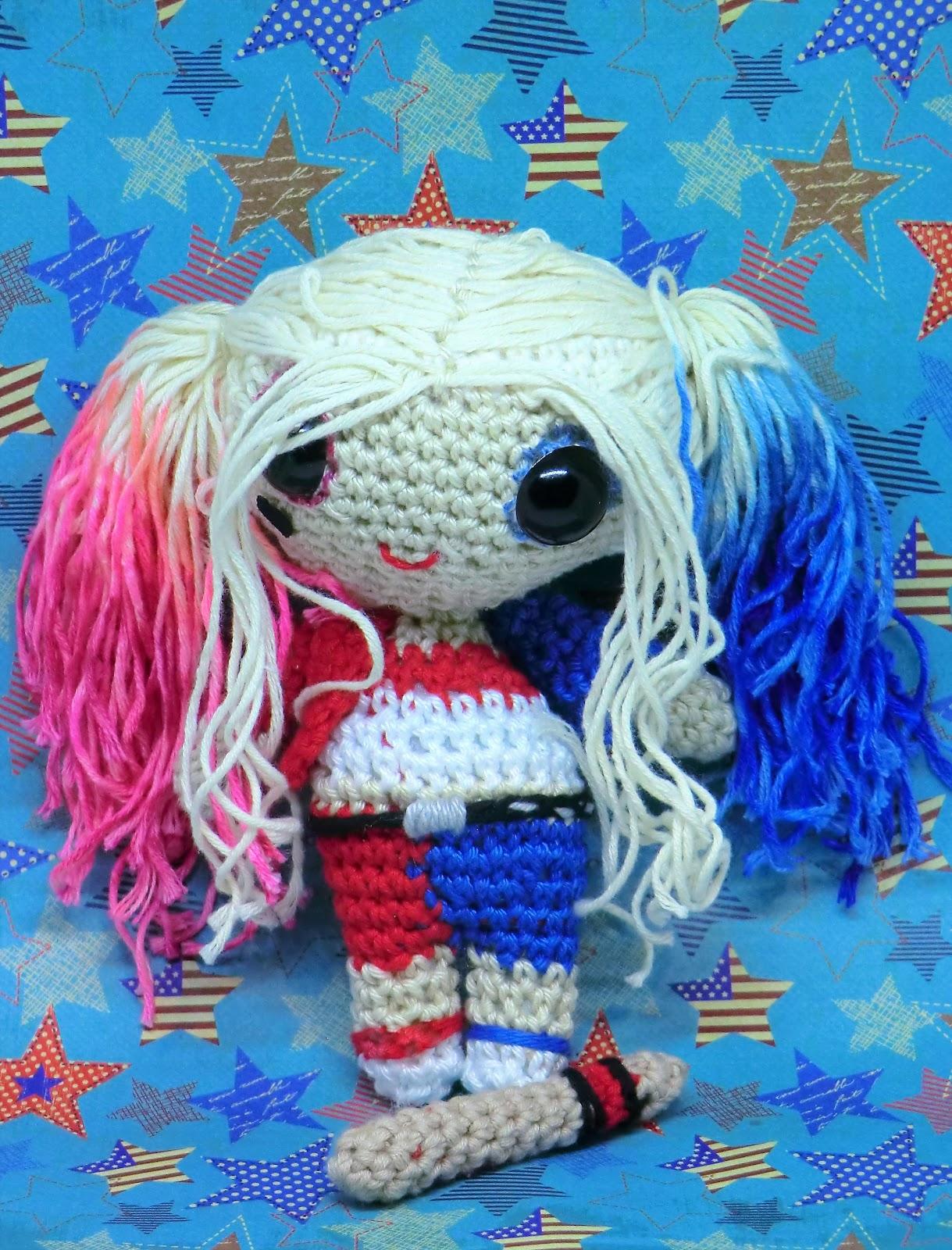 Ravelry: Harley Quinn Amigurumi pattern by Isabela Bessa | 1600x1219