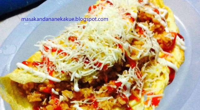 resep nasi goreng, resep nasi goreng omelete keju, resep omelete nasi goreng keju, resep masakan indonesia, resep makanan enak