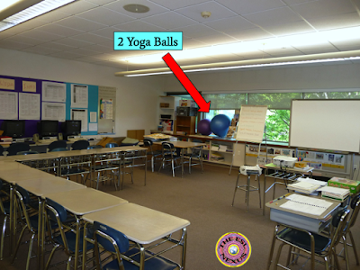 Yoga balls in middle school | The ESL Connection