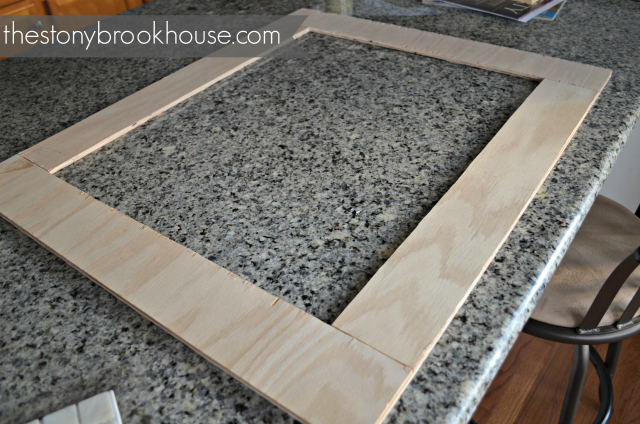 how to make a custom tiled mirror the