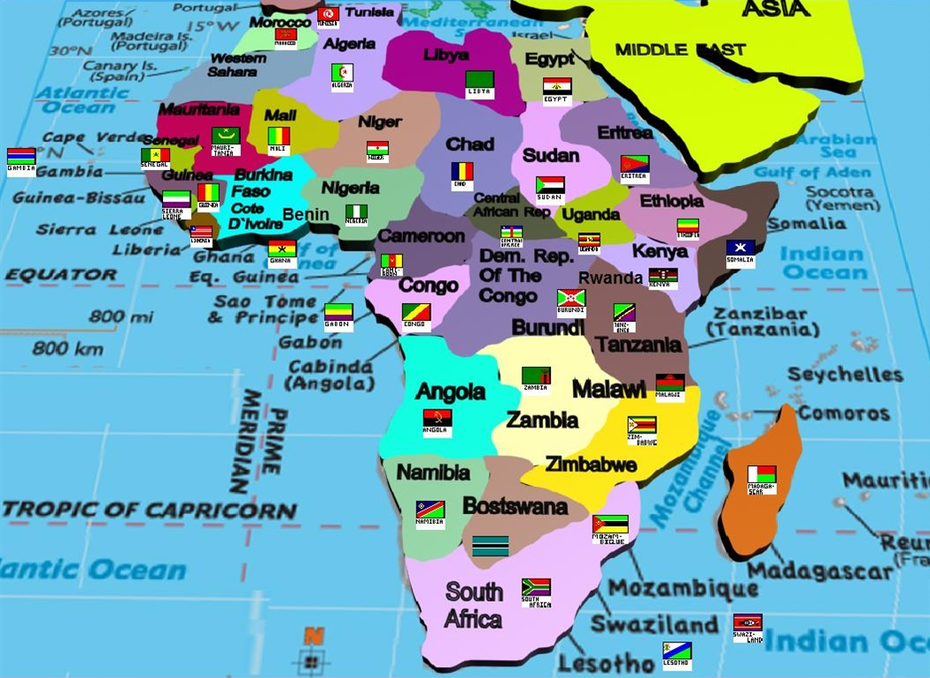 Manash subhaditya edusoft world atlas and geography linked to african continent with country and their flags created by me gumiabroncs