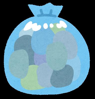 青いゴミ袋のイラスト