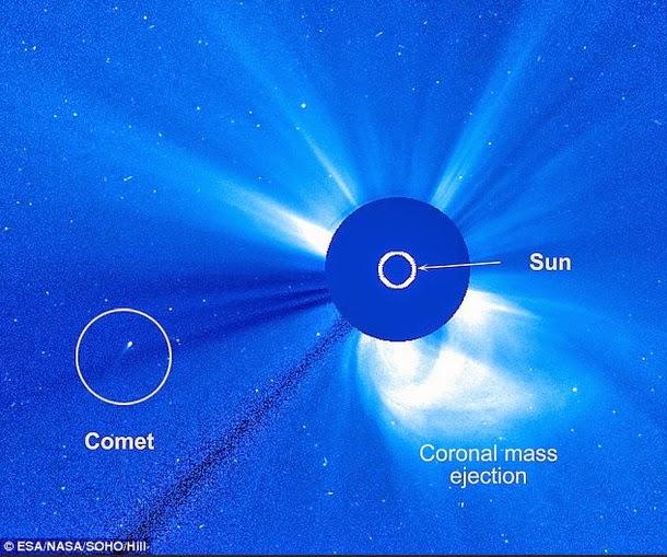 cometa1 - Cometa misterioso nunca antes visto sobrevive en un encuentro cercano con el Sol