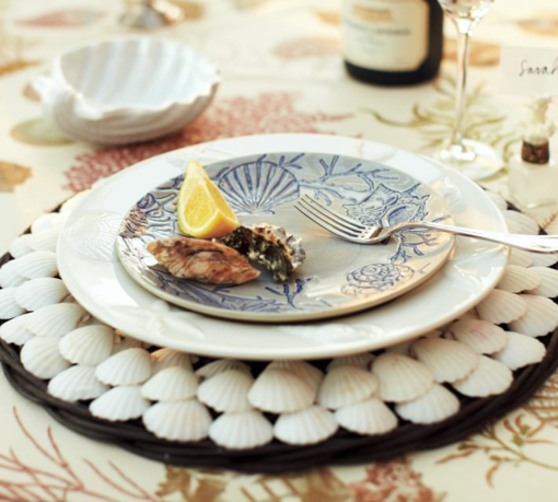 Coastal Charger Plates Shop Amp Diy Coastal Decor Ideas