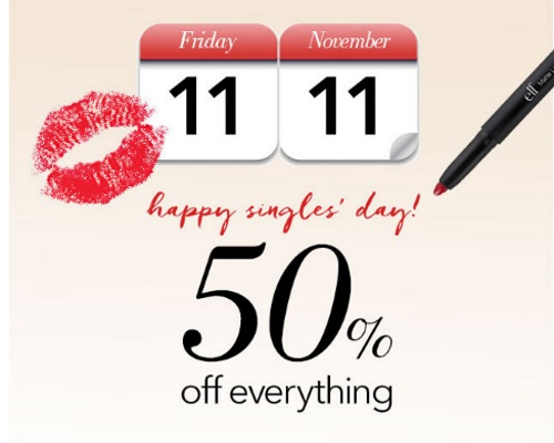 ELF Cosmetics 50% Off Everything Promo Code