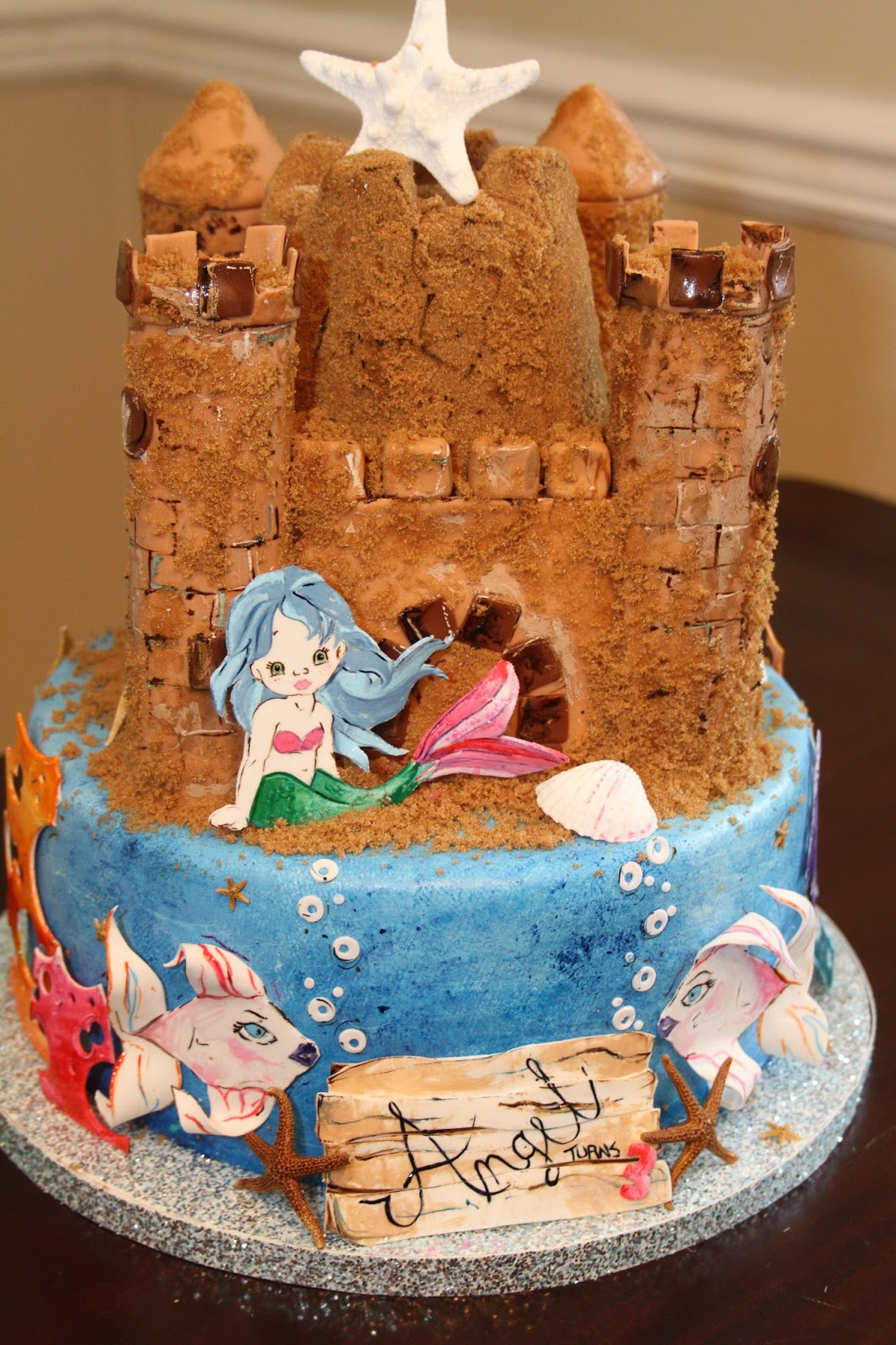 Picture Perfect Cakes Mermaid Sandcastle Cake