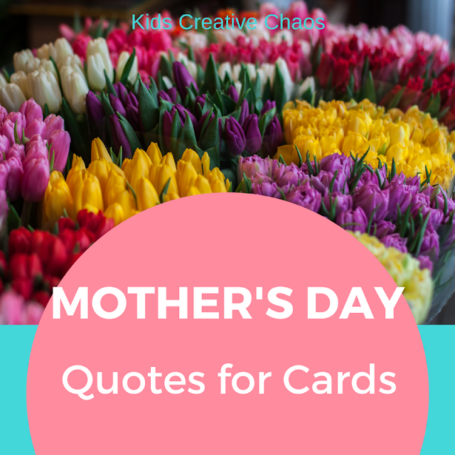 Mother's Day Activities for Kids with Sayings and Quotes for CARDS