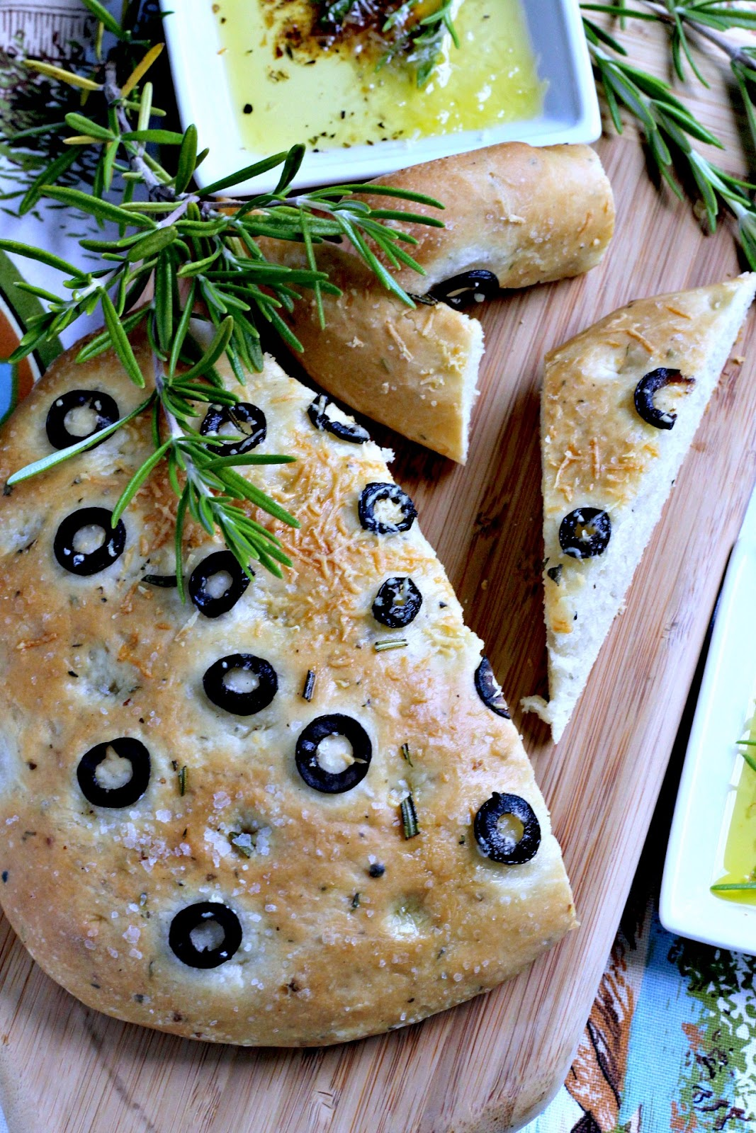 Top The Focaccia Dough As You Please Sliced Olives Co Salt And Herbs Are What I Used Other Common Toppings Include Mushrooms Green Onions Or