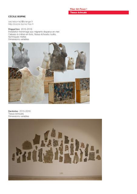 art textile contemporain, installation textile, tissus échoués