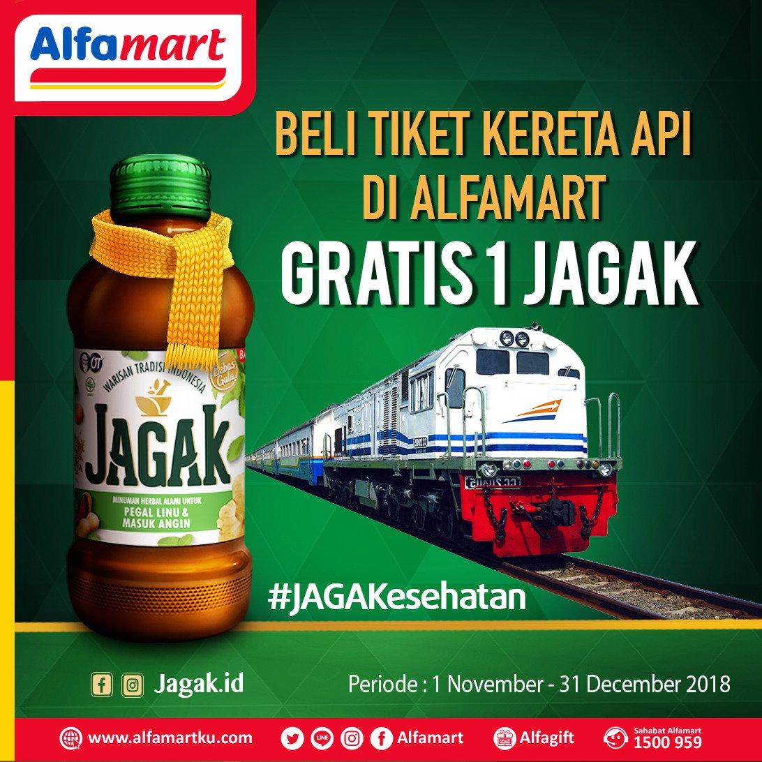 Alfamart - Promo Beli Tiket KAI Gratis 1 Jagak (s.d 31 Des 2018)