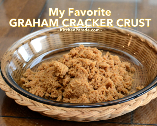 My Favorite Graham Cracker Crust made with two Trader Joe's products ♥ KitchenParade.com