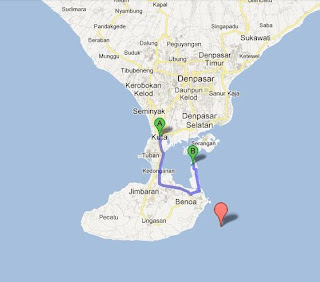 Map Tanjung benoa Bali Watersport