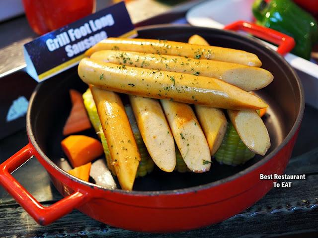 SHAH ALAM NEW YEAR 2020 HI TEA Menu - Grill Foot Long Sausage