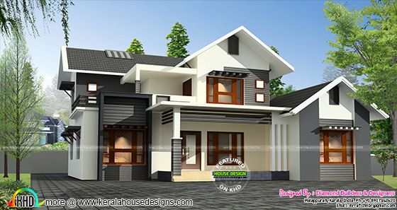 Sloping roof mix 1500 sq-ft home