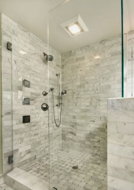 Management Chair Design Idea Half Height Tiled Shower Wall With Glass Upper Wall