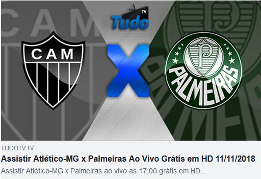 Assistir Atlético-MG x Palmeiras Ao Vivo Grátis em HD 11/11/2018 (TV TUDO)
