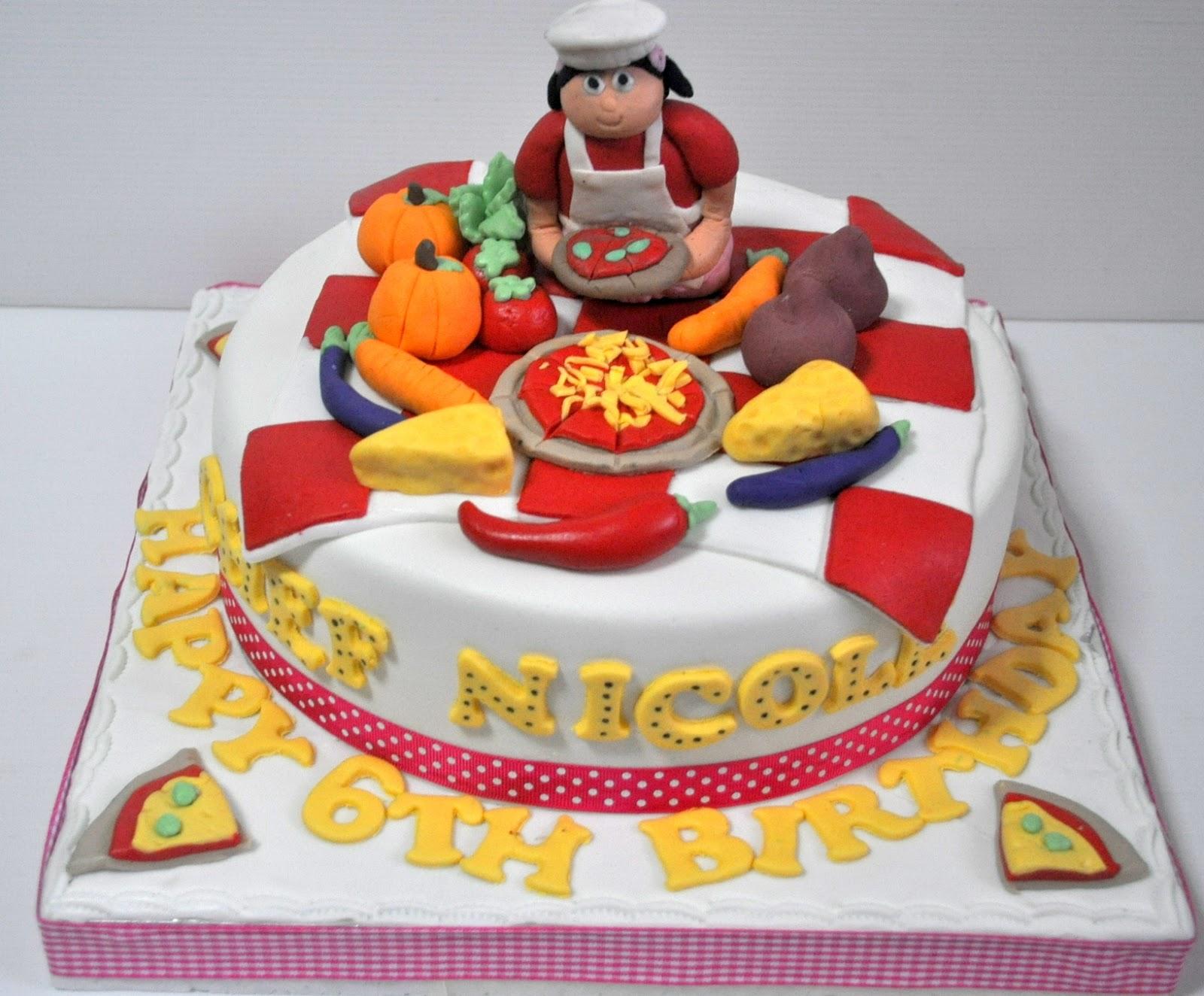 Izah S Kitchen Girl Chef Theme Cake