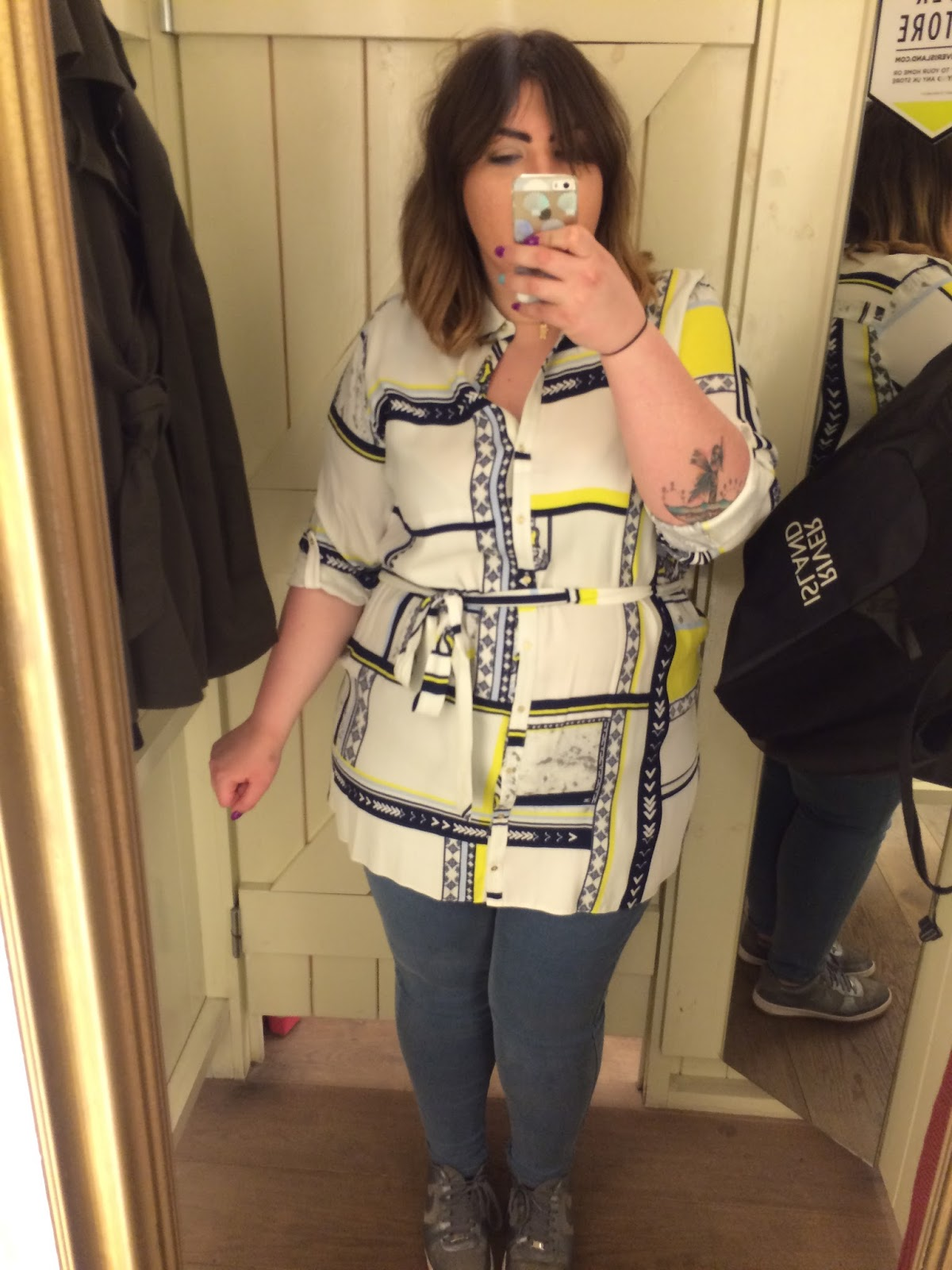 River Island Plus Size Range Printed Shirt Dress