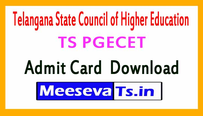 TS PGECET  Admit Card Download
