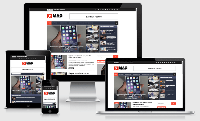 X-Mag - Responsive Blog & Magazine Blogger Template
