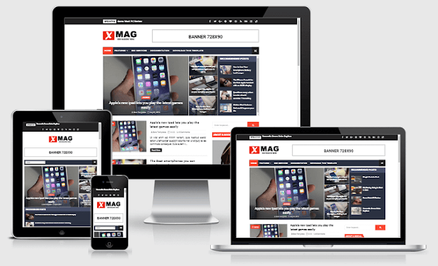 X-Mag Responsive Blog & Magazine Blogger Template Free Download