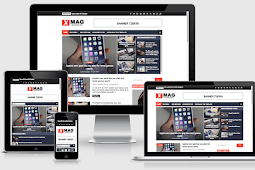 X-Mag Responsive Blog & Magazine Blogger Templates Free Download