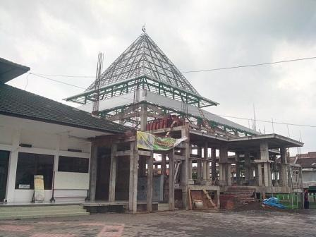 kanopi baja ringan di malang proyek kaso reng galvalum masjid ramadhan soehat ...