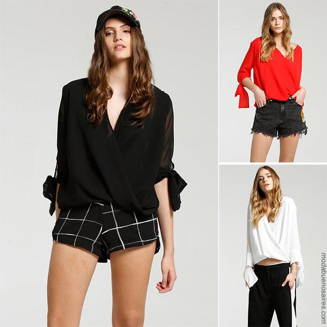 Blusa cruzada moda 2018 mujer. Moda 2018.