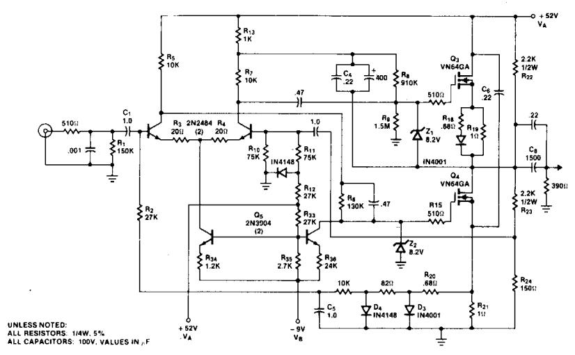 2n3004 Audio Amplifier 25w Amplifiercircuits Com