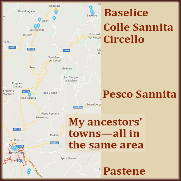 Plotting out where my ancestors lived, they were all pretty close together.
