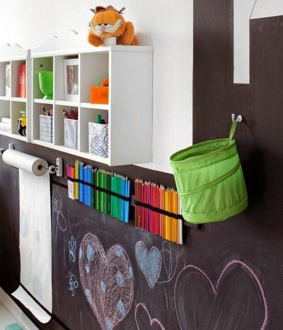 DIY habitación niños con pizarra