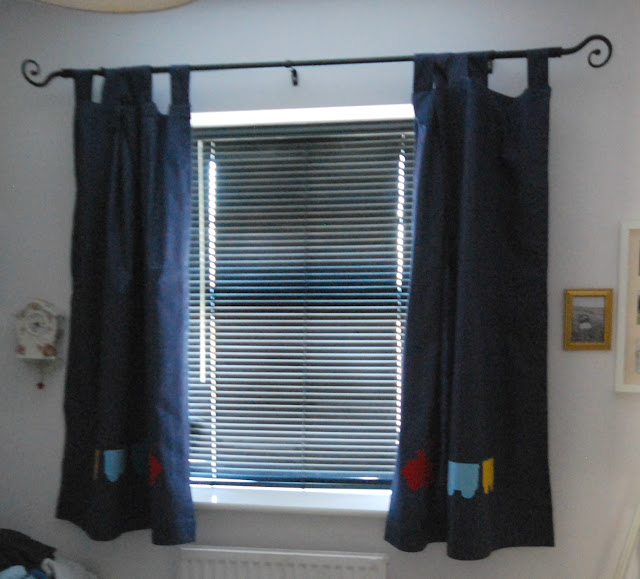 Curtains at window