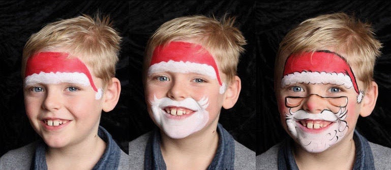 Paso a paso de maquillaje de Papá Noel