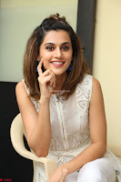 Taapsee Pannu in cream Sleeveless Kurti and Leggings at interview about Anando hma ~  Exclusive Celebrities Galleries 004.JPG
