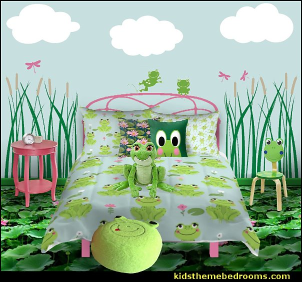 frog bedding frog pillow cloud wall decals  Frog chair  Dragonfly Wall Decals Lake-side Cattails Wall Decal  pond Floor Wallpaper mural
