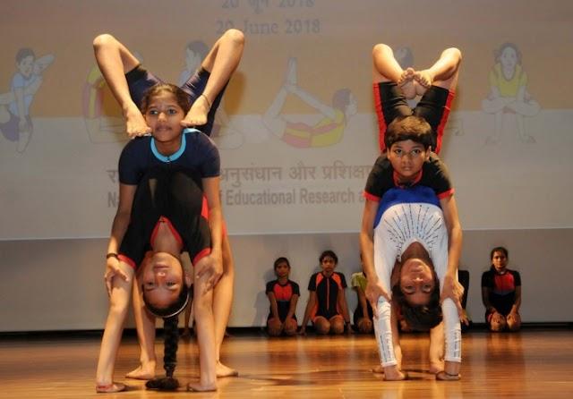 National Yoga Olympiad 2018:Manipur Girls bagged Silver Medal
