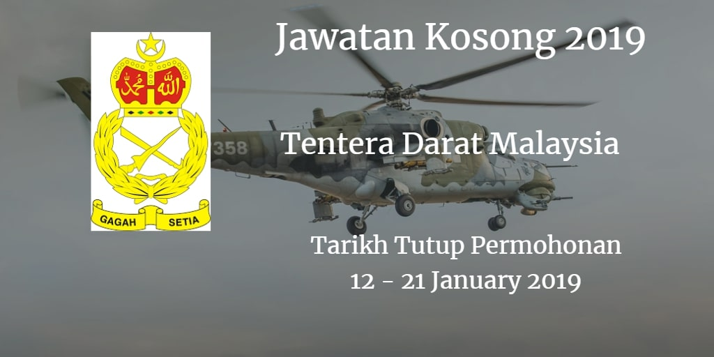 Jawatan Kosong ATM 12 - 21 January 2019