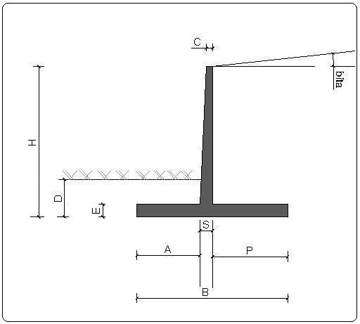btp calcul des murs de sout nement. Black Bedroom Furniture Sets. Home Design Ideas