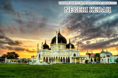 Takwim Waktu Berbuka Puasa & Imsak 2016 Negeri Kedah