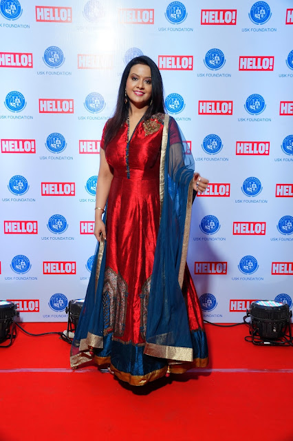 Amruta Fadnavis gracing the red carpet at URJA Awards in association with Hello!