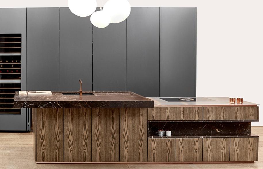 Cocinas con estilo for Cocina color gris y madera