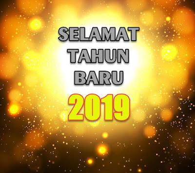 selamat tahun baru 2019 bokeh