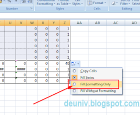 copy formating onli pada excel