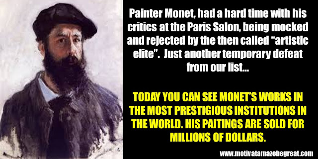 63 Successful People Who Failed: Claude Monet, Success Story, mocked, Paris Saloon, artistic elite, millions of dollars paintings,