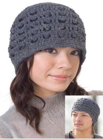 Patrón 1012 Gorro Tejido Unisex a Crochet