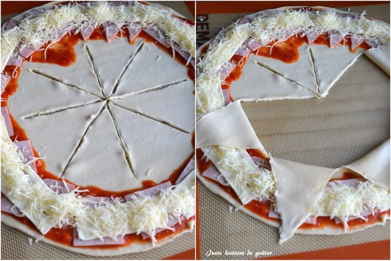 juste histoire de go ter pizza soleil au jambon fromage recette express. Black Bedroom Furniture Sets. Home Design Ideas